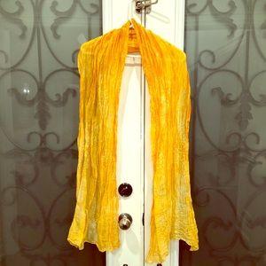 Silk orange scarf foulard